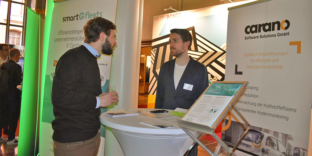 Rege Diskussionen am Carano Fuhrparksoftware Stand
