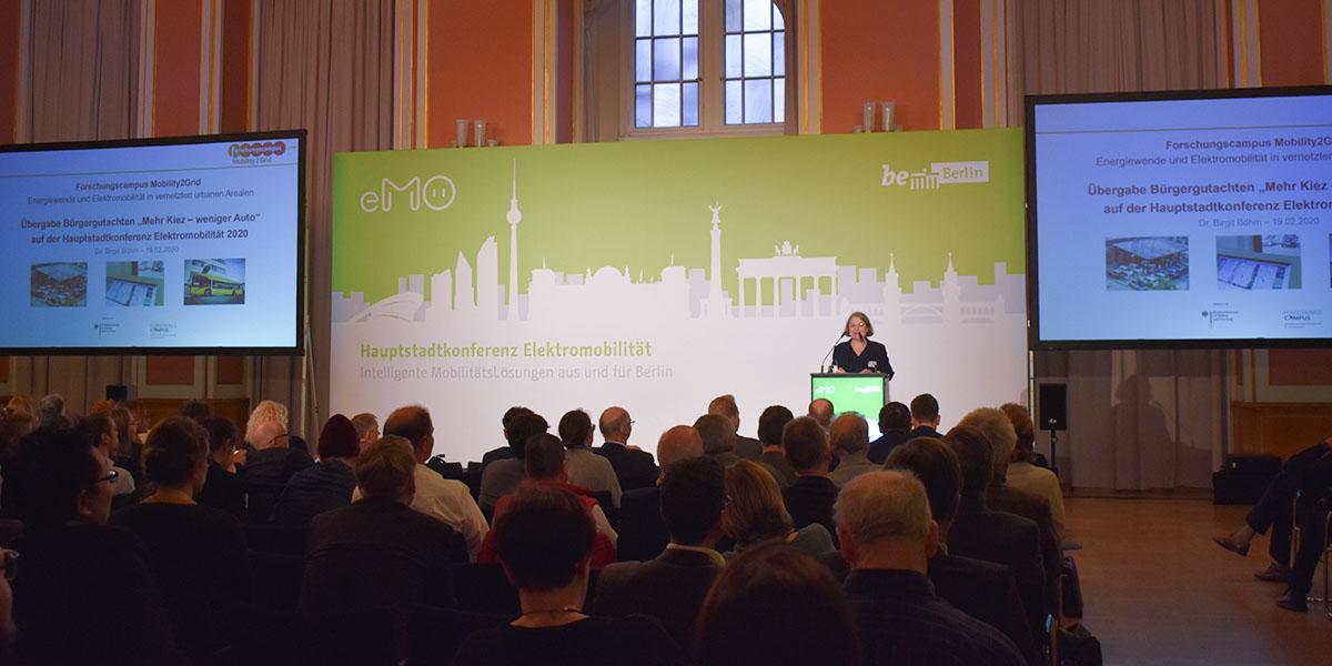 Vortraege auf der Hauptstadtkonferenz Elektromobilität